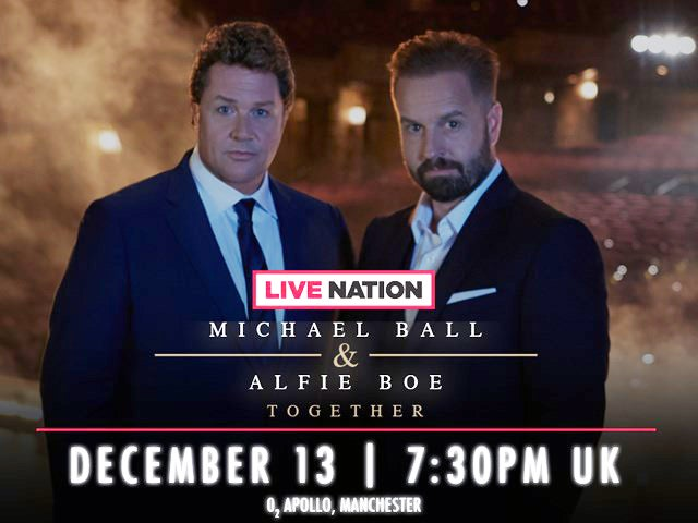 Watch Michael Ball & Alfie Boe's Manchester Show Live With LNTV