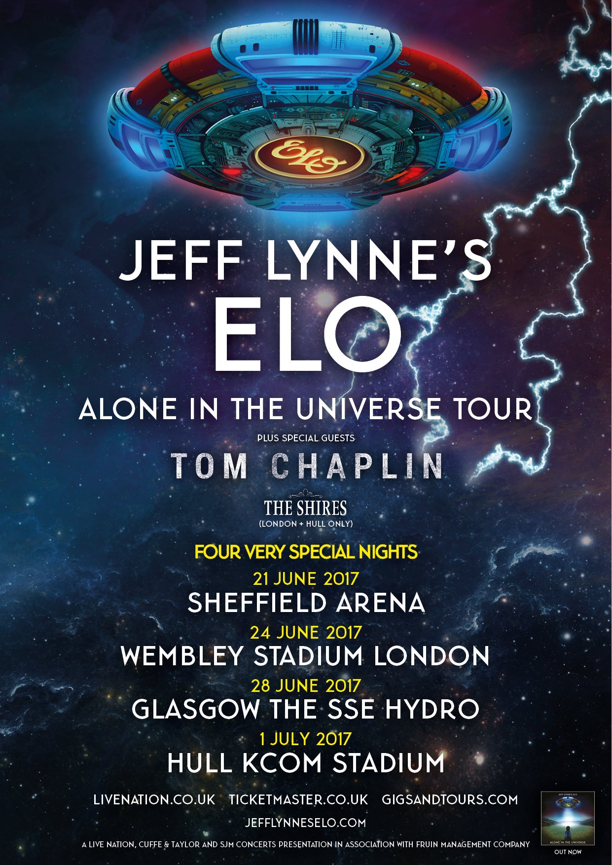 Who's Supporting Jeff Lynne's ELO This Summer? Time To Find Out!