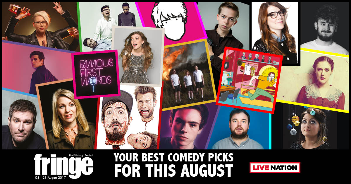 #EdFringe Is Coming: Our Guide To The Best Of This Year's Comics!