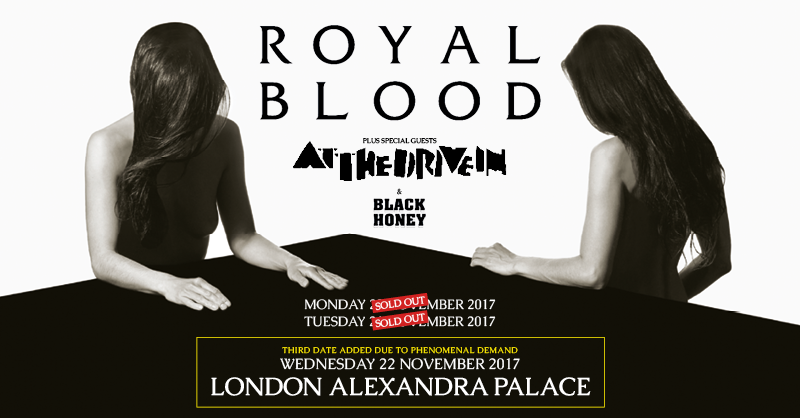 Royal Blood Add Third Show (Yep, THIRD!) At London's Alexandra Palace