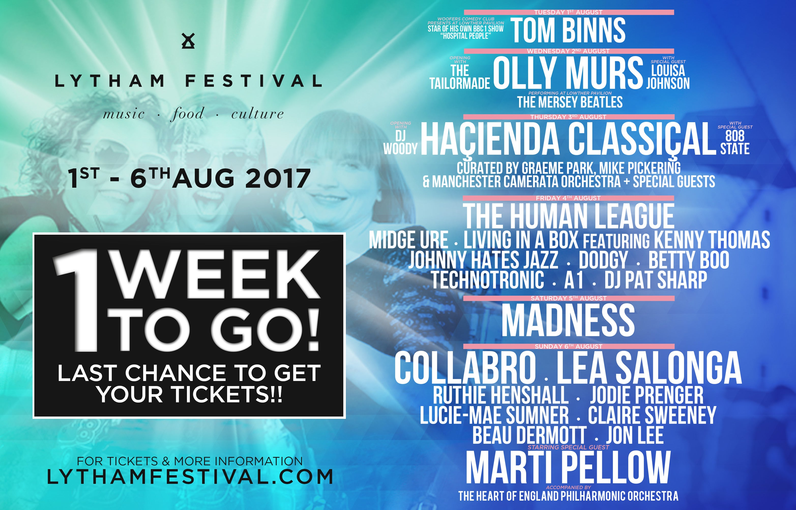 Lytham Festival: One Week To Go!