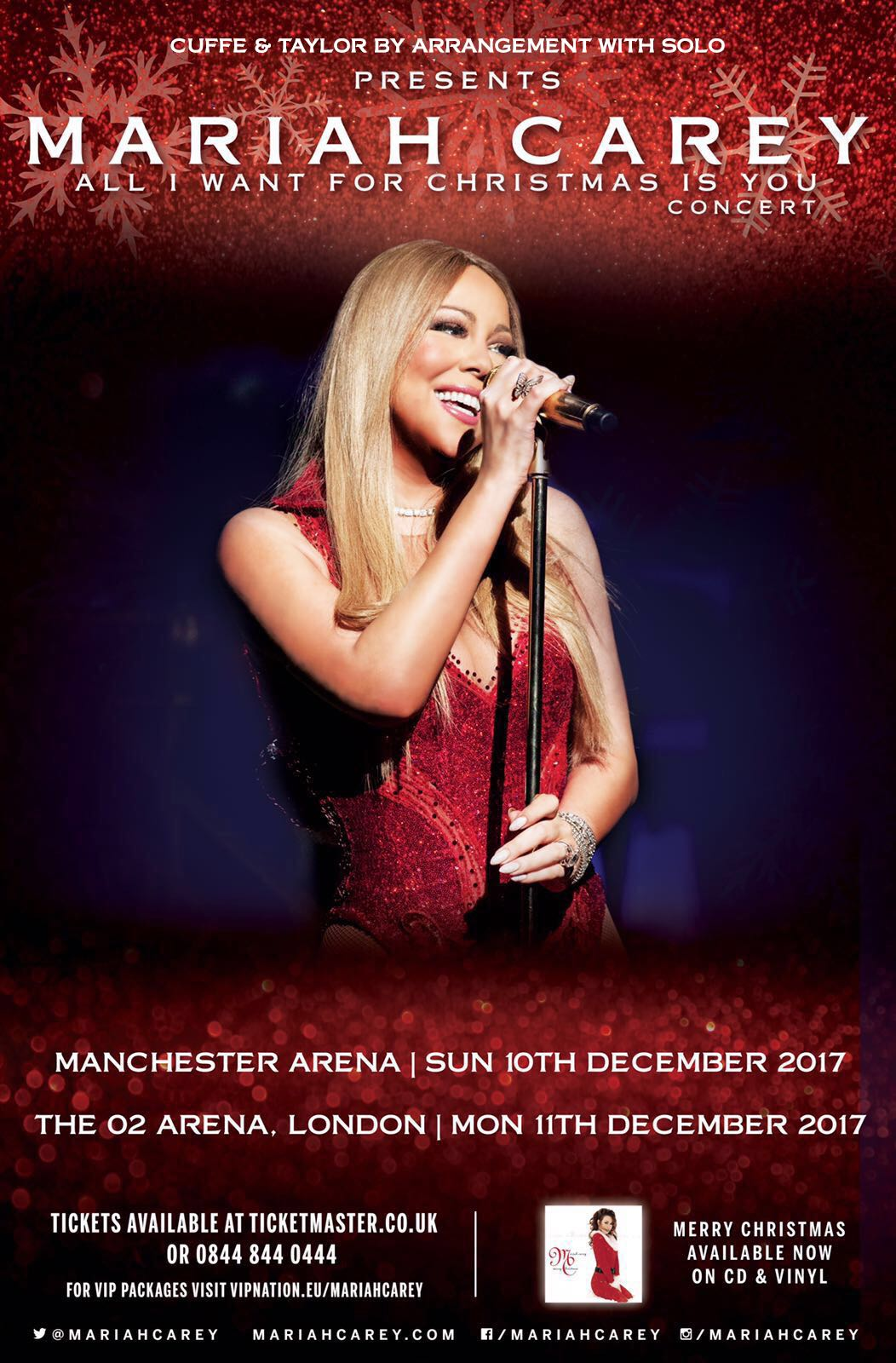 Mariah Carey To Bring Her 'All I Want For Christmas Is You' Concert To London & Manchester!