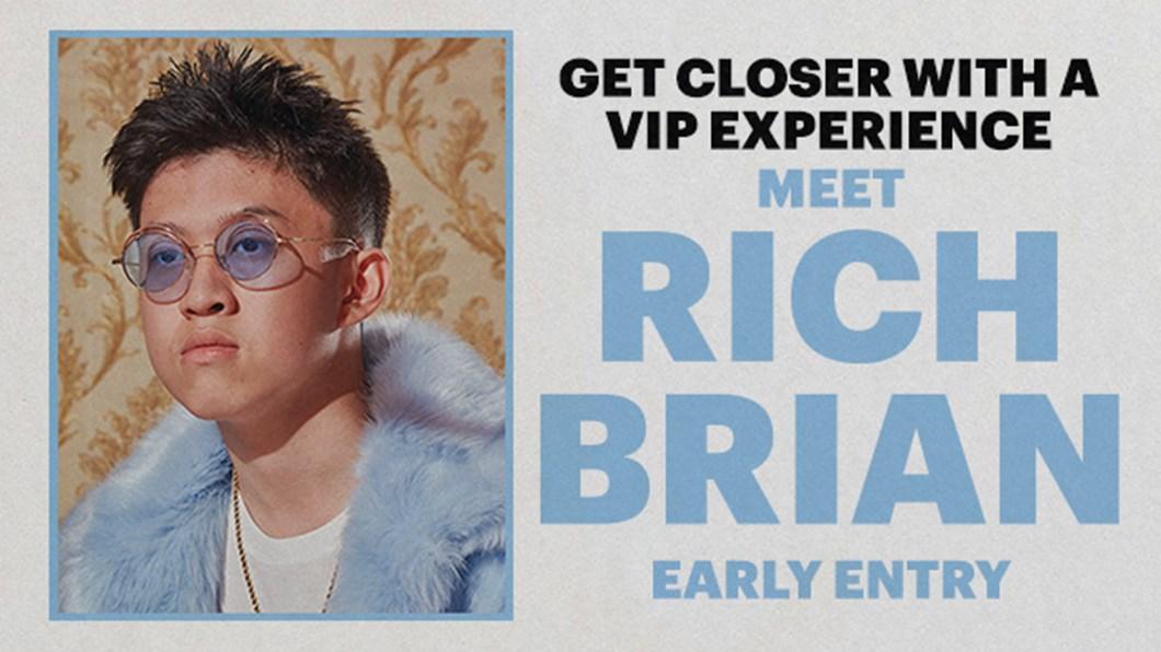 Vip experiences meet rich brian live nation tv m4hsunfo