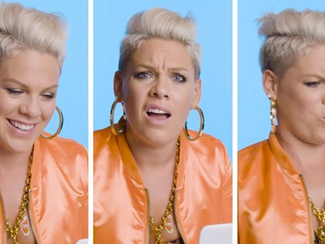 P!NK watches covers of her songs!