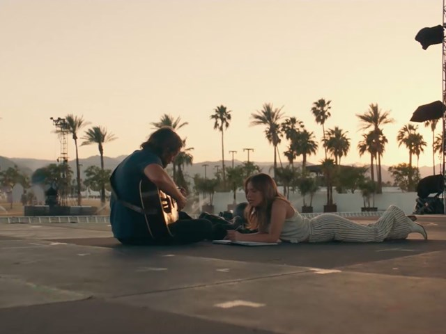 "Bradley Cooper & Lady Gaga in ""A Star Is Born"""