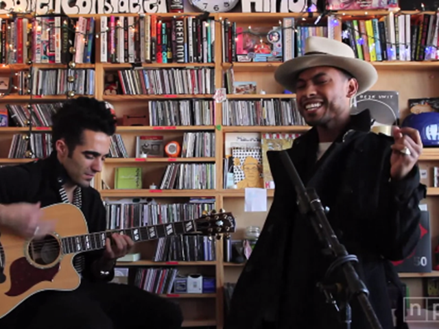 An intimate studio session with Miguel