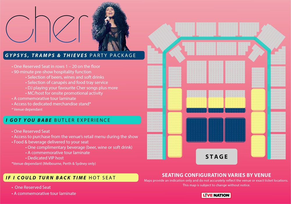 Vip experience cher live nation tv download vip experience map m4hsunfo