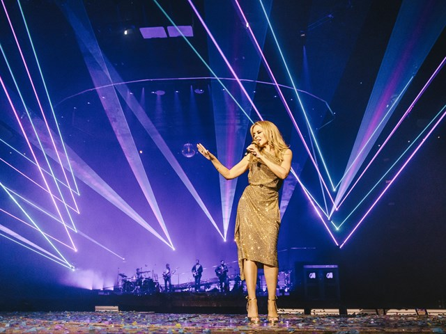 Incredible live show: Kylie starts 'Golden Tour'