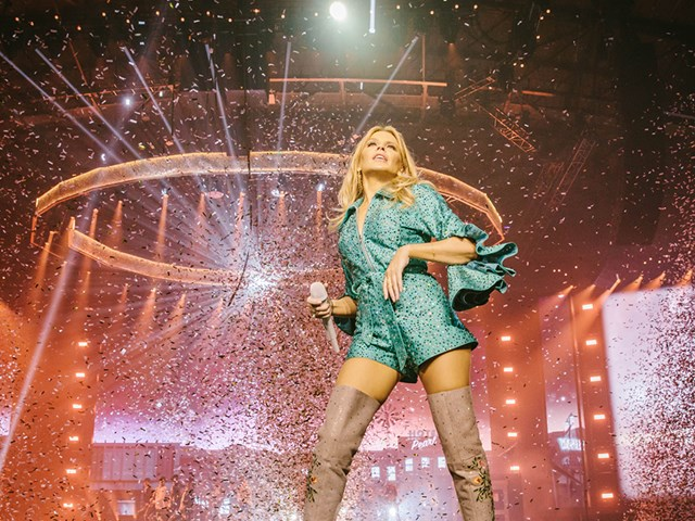 See all the action from the opening night of Kylie's Golden Tour!