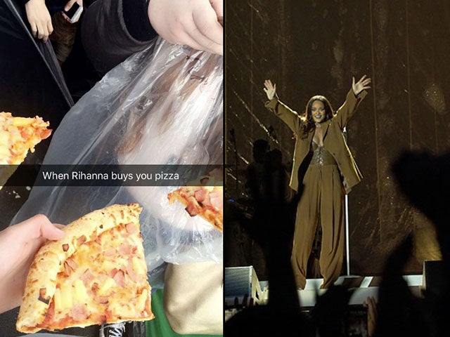 Rihanna Bought Pizza For A Bunch Of Fans In Manchester Last Night