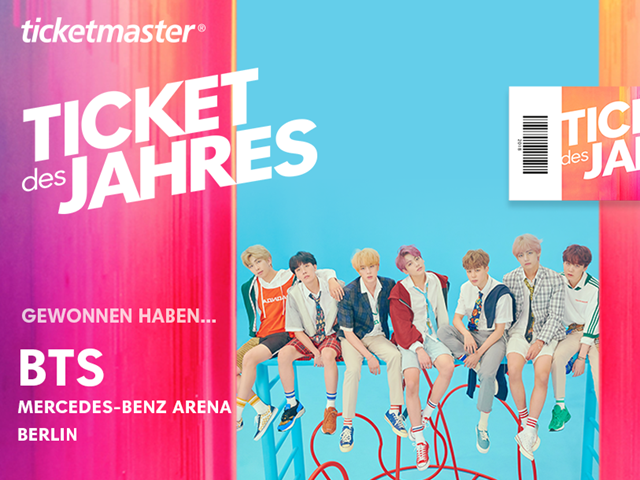 BTS win ticket of the year 2018!